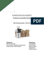 103021172 Warehouse Management Final Project Report