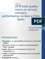 TQM and Quality Performance