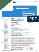 A13 - Letrinas y Baños Para Uso Escolar o Comunitario - Wiki