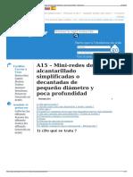 A15 – Mini-redes de Alcantarillado Simplificadas o Decantada