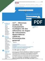 A17 – Diversos Medios de Tratamiento Ecológico de Los Efluen