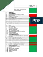 Lista de Verificacion de Actividades