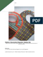 Reversible Magnetic Bib Pattern