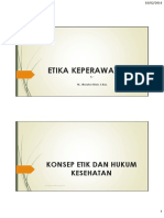 ETIKA KEPERAWATAN II (Konsep Etik & Hukum Kes, Peraturan PerUUan Ttg Praktik Kep, Kode Etik, Hak & Kewajiban Pasien)2