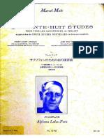 48 Études Ferling Marcel Mule