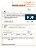Grammar Games Present Simple and Present Continuous Worksheet