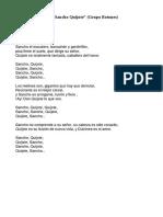 Letra Sancho Quijote