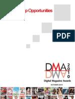 Digital Magazine Awards Sponsorship Opportunities
