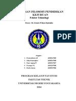 Landasan Filosofi Pendidikan Kejuruan (teknologi)