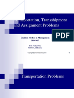 3. Transportation, Transshipment and Assignment Problems