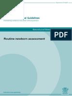 Queensland Clinical Guideline Newborn Assessment