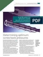 5 Screw Back Pressure Selection
