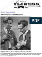 The Narcissism of Minor Differences | The Art of Manliness