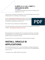 Installing Bi Apps 11