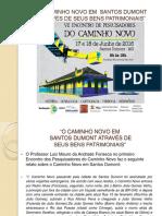 Caminho Novo Em Santos Dumont Através de Seus Bens Patrimoniais