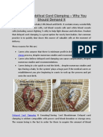 Delayed Umbilical Cord Clamping – Why You Should Demand It
