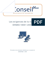 Support Les Exigences de La Norme OHSAS 18001 Version 2007