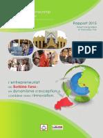 Deuxième édition du rapport GEM sur l'entrepreneuriat au Burkina