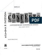 Pavle Despalj - Concerto for Alto Saxophone and String Orchestra