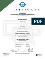 Certificate DQS English