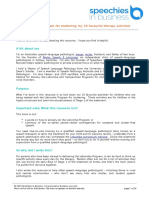 10 Activity Ideas for the Lidcombe Program for Stuttering Version 2 (1)