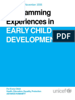 Programming Experiences in Early Childhood