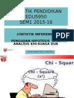 Edu5950 Sem1 2015-16 Chi-square Analysis