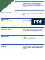 Relational Database Flash Cards