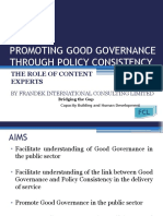 2promoting Good Governance Through Policy Consistency