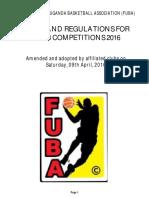 FUBA Rules and Regulations 2016