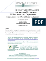 The Use of Innovative Financial Instruments Implications for EU