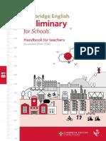 Cambridge English Preliminary for Schools Handbook