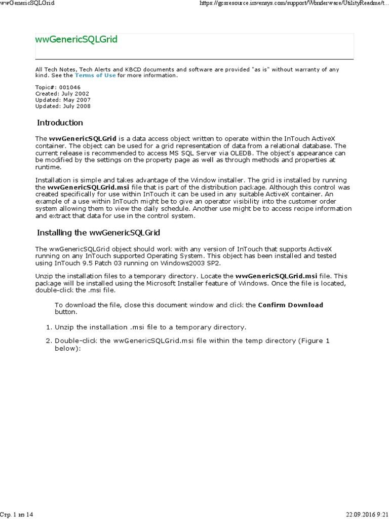 Ww Generics Ql Grid | Microsoft Access | Microsoft Excel