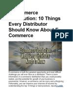 E Commerce Distribution