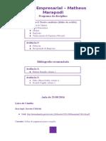 Direito Empresarial III - 7º Período