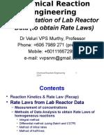 CRE7 Kinetics Lab Data Analysis Rev