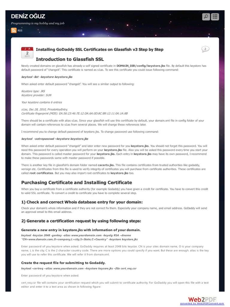 Install ssl certificate to glassfish public key certificate install ssl certificate to glassfish public key certificate domain name xflitez Choice Image