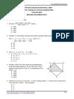 Soal Osk Matematika Smp 2016