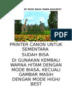 Contoh Print Mode Biasa Tanpa High