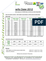 Tarifs Osier 2012 Recto-Verso