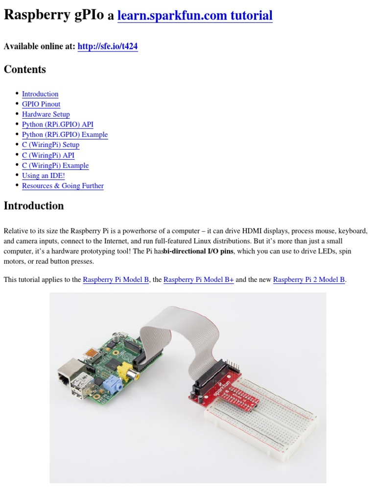 raspberry gpio raspberry pi python programming language rh scribd com wiringpi gpio input wiringpi gpio read php