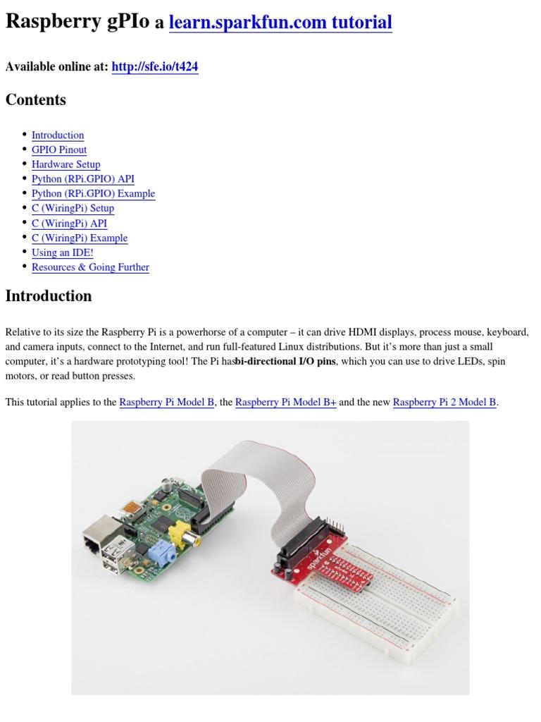 Raspberry Gpio Pi Python Programming Language Wiringpi Pins