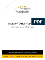 Word 2013 Mail Merge and Creating Forms Rev