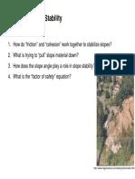 Slope Stability(Landslide)
