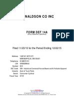 Donaldson Company - proxy Nov2015.pdf