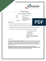 Modine Manufacturing Company - 2016_Proxy