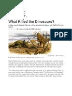 Dinosaurs Report