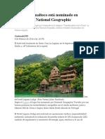 Hotel Guatemalteco Está Nominado en Concurso de National Geographic