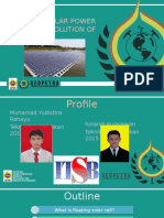 Floating Solar Power Plant as a Solution of Limited Area PPT