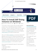 How to Install SAP Dialog Instance on Windows